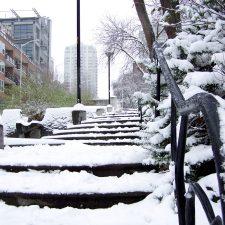 snow-stairs